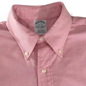 Brooks Brothers Shirts - BROOKS BROTHERS Men's Dress Shirt Pink 15-34